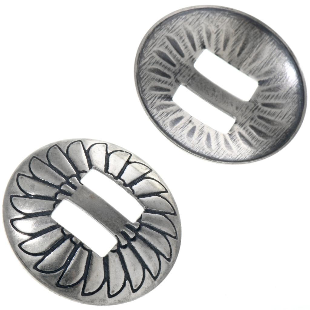Sterling Silver Slide On Concho Disk 3 4 Set Of 6 0063