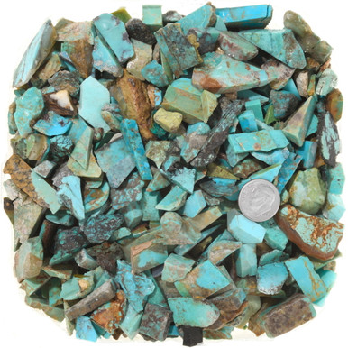 2 pieces  .. a4272 12  mm   .. Kingman Turquoise ......