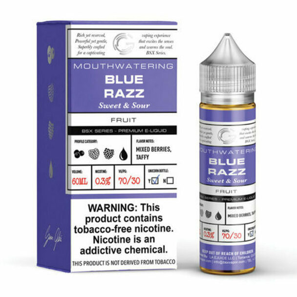 GLAS BASIX SERIES - BLUE RAZZ 60 ML