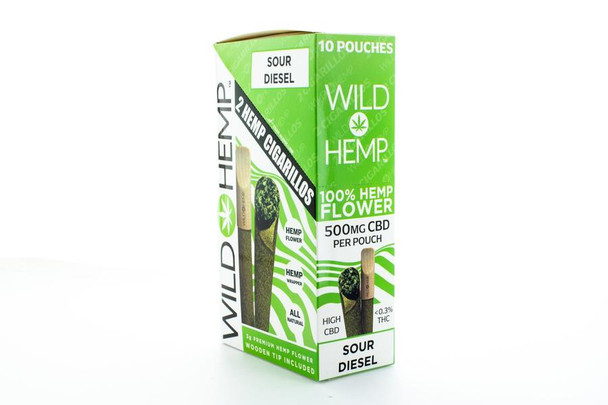 Wild Hemp Wood Tip Cigarillos 500mg CBD - Case of 10 packs