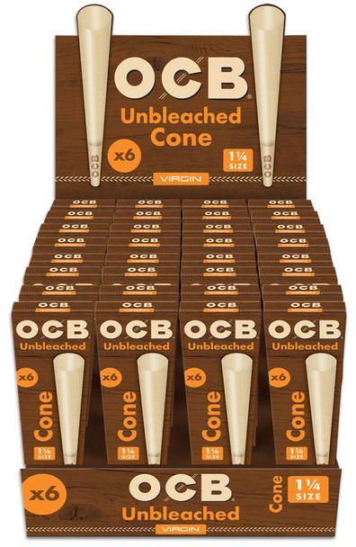 OCB Virgin Cone 1 1/4 - 6 Pack