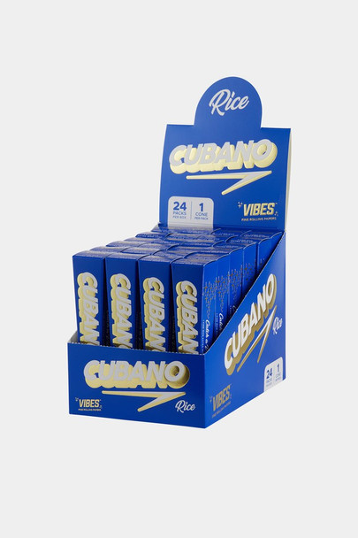 Vibes King Size Rice Cubano Cones - 24 Pack Display