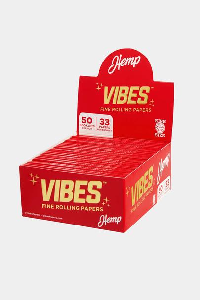 Vibes King Size Slim Hemp Papers - 50 Booklet Display