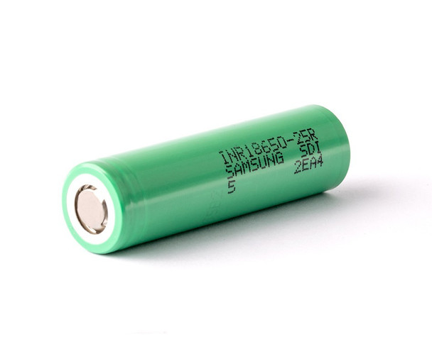 25R (GREEN) INR 25R 18650 (2500MAH) 20A 3.7V BATTERY FLAT-TOP