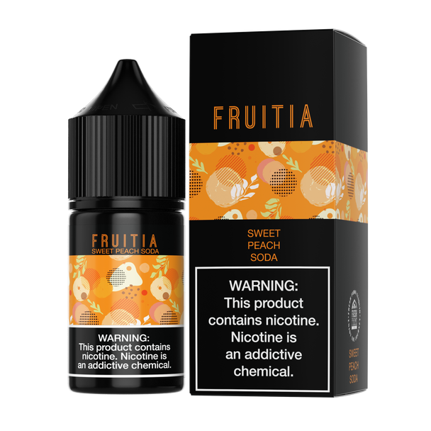 Fruitia - Sweet Peach Soda 30ml Salt Nic E-liquid