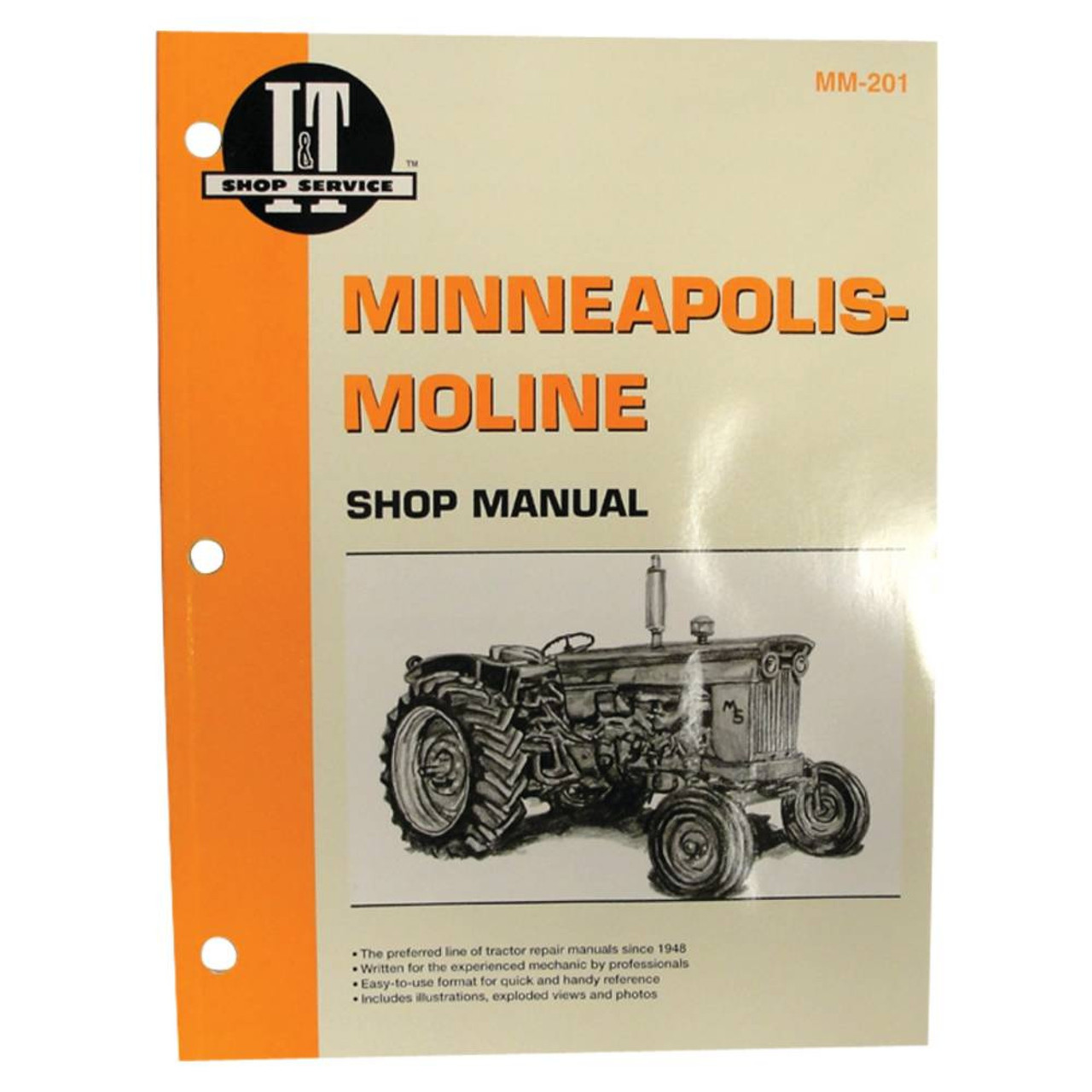 Service Manual for Minneapolis-Moline Tractor MM201 335, 4 5 STAR , 445 -  Complete Tractor