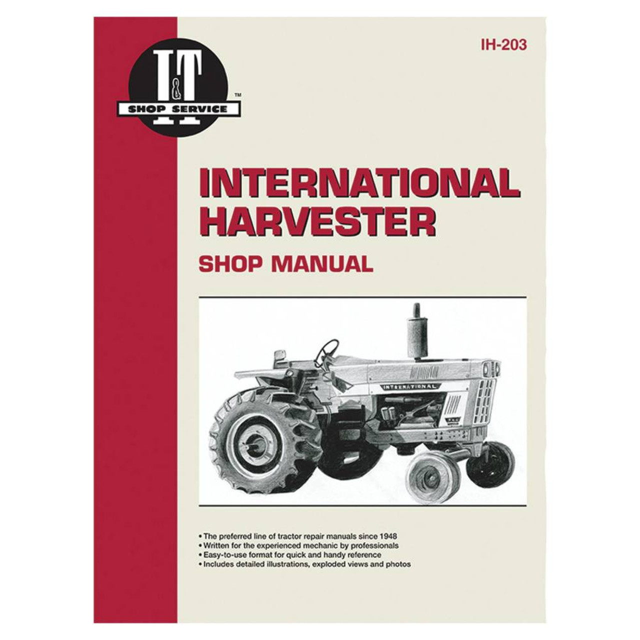 New Service Manual Case/International Tractor 1026,1066,1086,454,474,656,666,686  - Complete TractorComplete Tractor