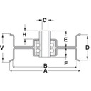 Flat Idler 280-740 for Exmark Quest series mowers 132-9420, 106-2175