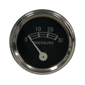 "Oil Pressure Gauge OD 2"", Type Chrome Bezel For Industrial Tractors 3007-0558"