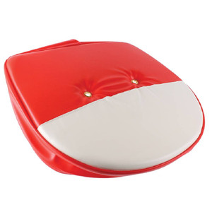 Seat Cushion, Red and White 21 Inch Replacement for Tractors T295RW