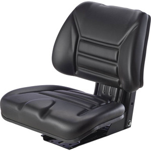 Tractor Seat, Suspension Seat, Fixed Base, Trapezoid Back