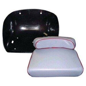 New Pan And Cushion Grey Seat Set For Massey Ferguson 135, 150