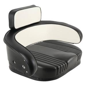 Seat Cushion Set Vinyl White/Black International 706 1466 766 1066 966