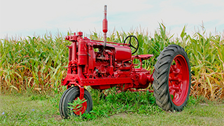 Classic red tractor