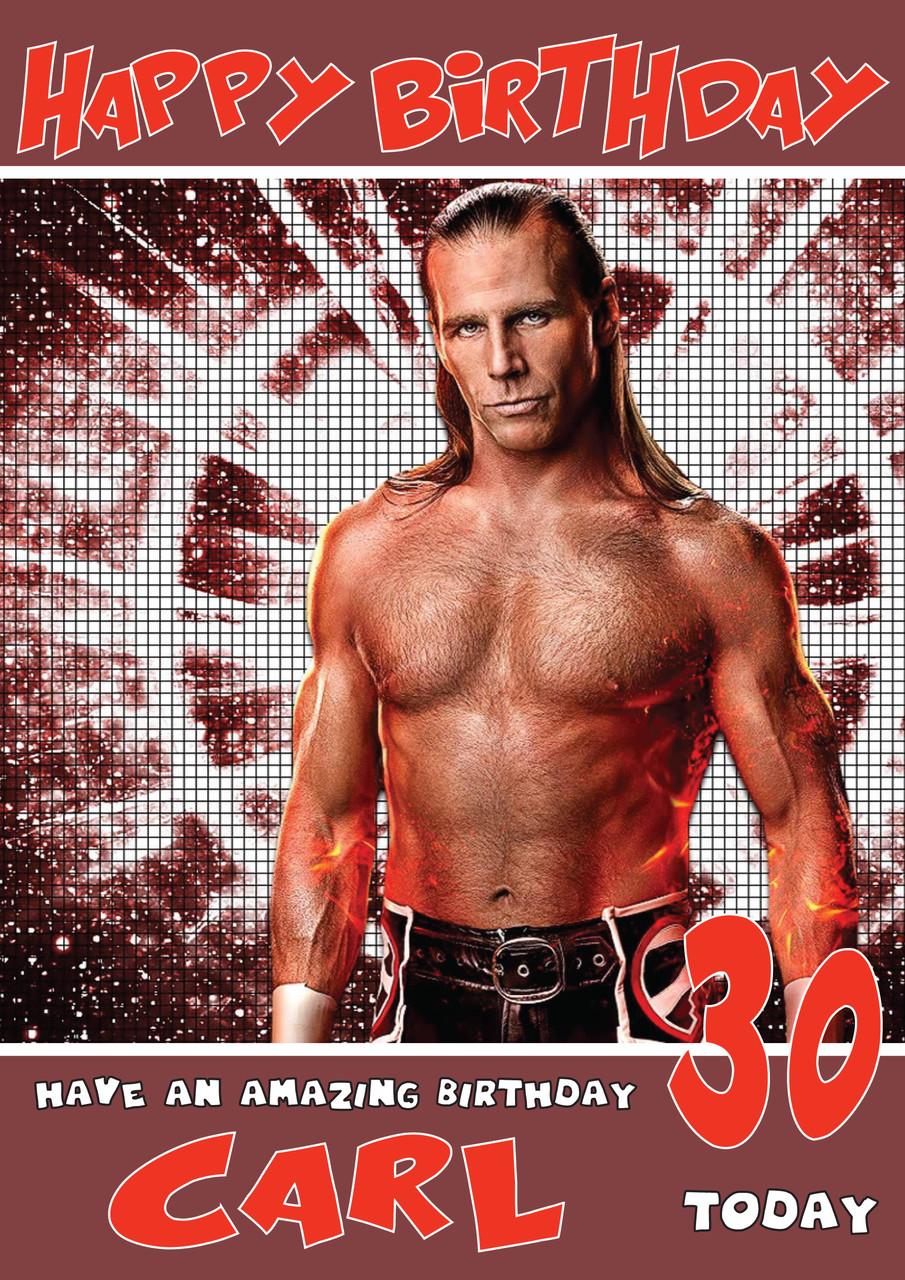 Shawn Michaels 7 WWE Birthday Card (SA)