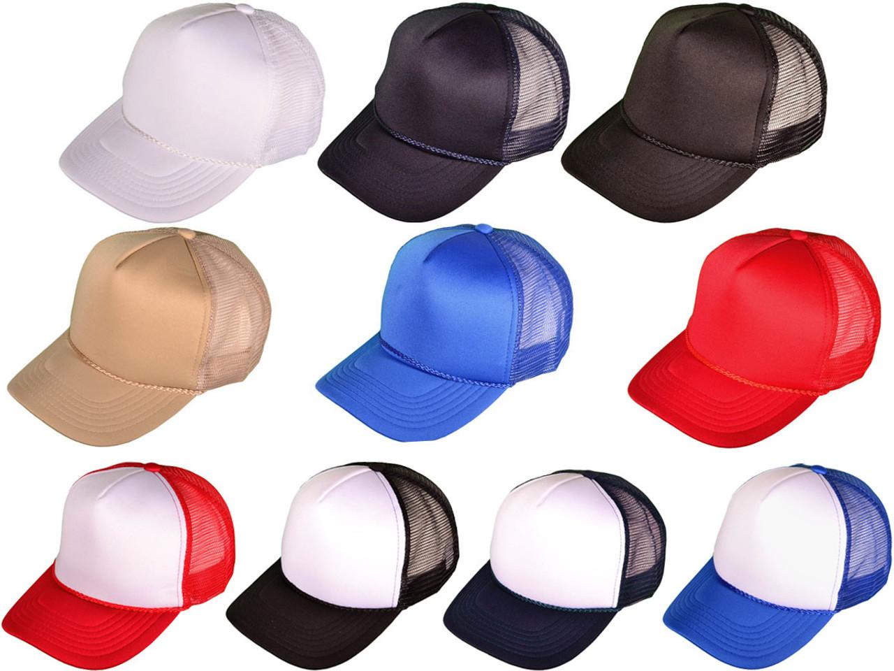 12 Black and White Foam//Mesh Trucker Hats Fast Shipping! 1 Dozen