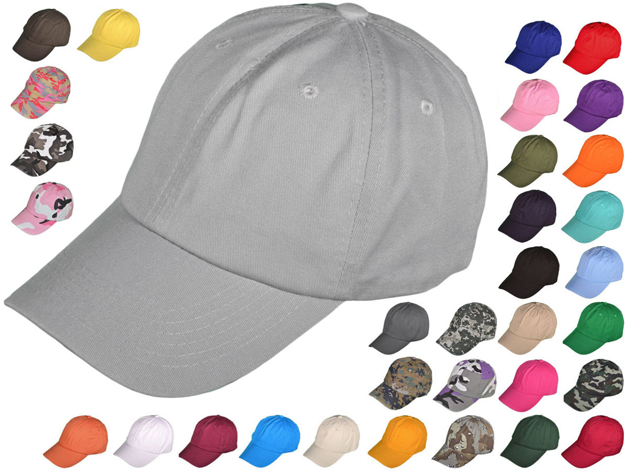 a82bc31ce Blank Dad Hats - BK Caps Unisex Cotton Polo Unstructured Low Profile  Baseball Caps With Buckle Back Closure (34 Colors) - 4921