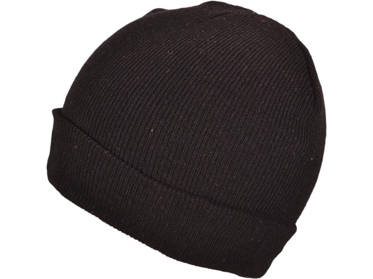 34bfbda51 *Dozen Pack* Winter Plain/Blank Beanies Wholesale Knit Hat Skull Toboggan  Stocking Caps (Black **Snug Fit**) - 4985
