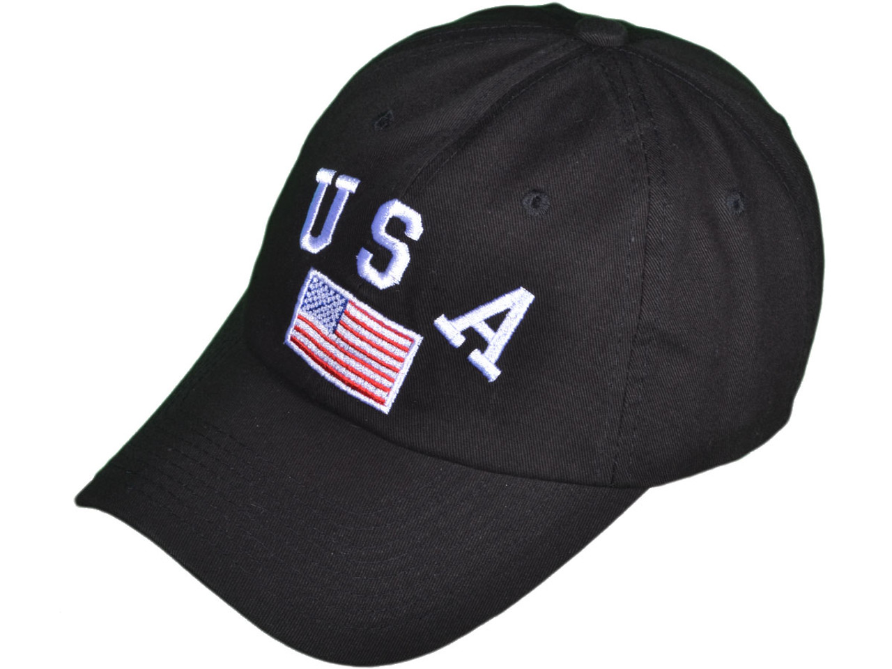 f776b39ff03 Embroidered Unstructured Cotton Color USA Flag Polo BK Caps