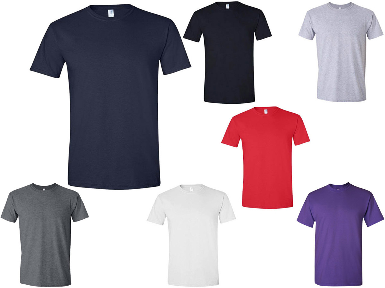 huge selection of high quality guarantee stylish design T‑Shirts Gildan 4.5 oz Soft Style Cotton G64000 Adult Unisex (7 Colors) -  5064