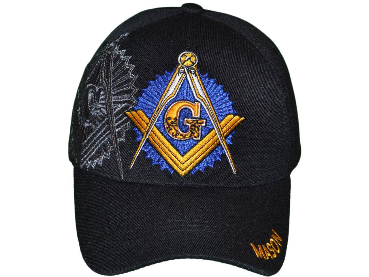 Masonic Baseball Hats BK Caps Wholesale 3D Embroidered