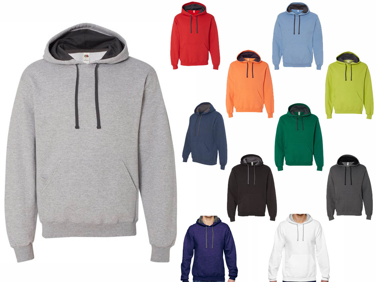 Fruit Of The Loom Sf76r Sofspun Hooded Pullover Sweatshirt