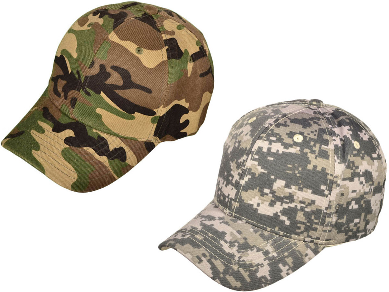 606b705beef Wholesale 6 Panel Mid Profile Blank Baseball Caps camo camouflage ...