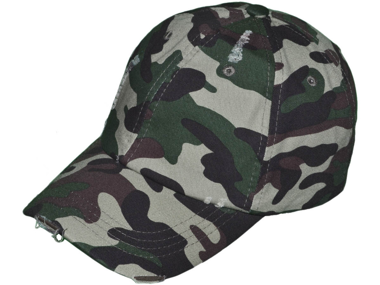 b6f64f761f2 Camo Vintage Dad Hats - Low Profile Unstructured Distressed Washed Cotton  Twill Polo BK Caps Velcro