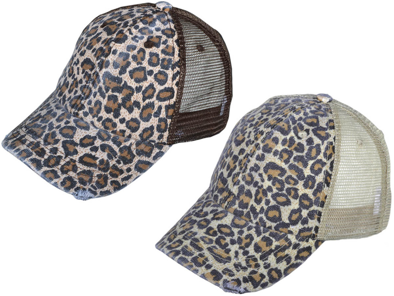 Animal Print Vintage Trucker Hats Soft Structured Distressed Washed ... f430d84aa58e