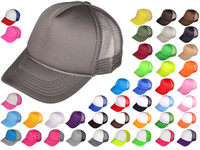 Blank Trucker Hats - BK Caps Foam Front Mid Profile Mesh Back (43 Colors) -  3025 36e3322c424f