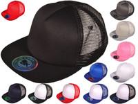 Wholesale Flat Bill Trucker Hats - 6 Panel SnapBack Mesh 2