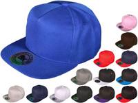 e4de5ba2879d8 5 Panel Snapbacks - BK Caps Flat Bill Vintage Snapback Hats with Same Color  Underbill (14 Colors) - 4831