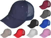 bb90caa686e Vintage Trucker Hats - Unstructured Cotton Low Profile BK Caps (10 Colors  Available) - 5212