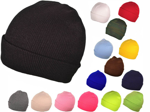 bbc232463bb10 ... Blank Beanies - Winter Plain Long Knit Hat Skull Toboggan Stocking Caps  (16 Colors