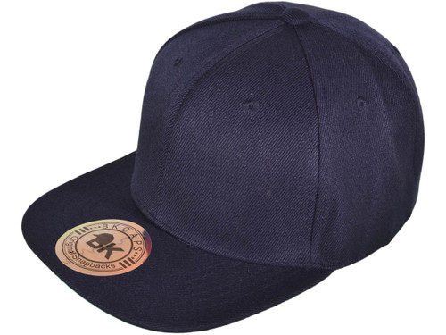 ... Blank Snapback Hats - BK Caps Flat Bill Plain Vintage Snapbacks with Same  Color Underbill ... 273a46364735