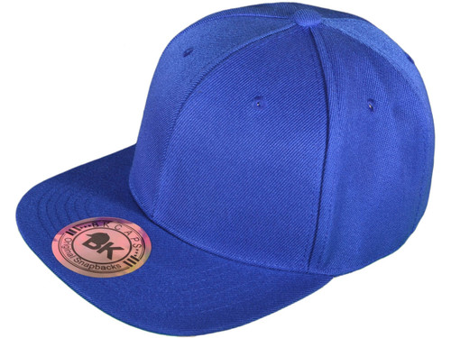 bd06e521 Blank Snapback Hats - BK Caps Flat Bill Plain Vintage Snapbacks with Same  Color Underbill - 3003