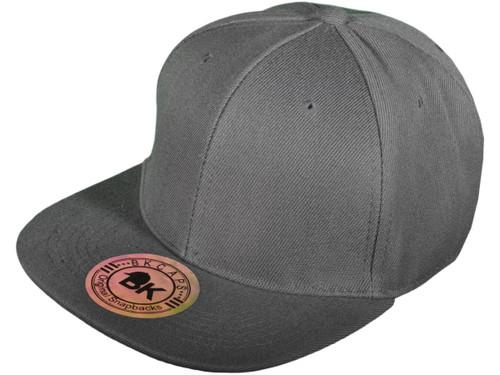 953fe93abe45a ... Blank Snapback Hats - BK Caps Flat Bill Plain Vintage Snapbacks with  Same Color Underbill ...
