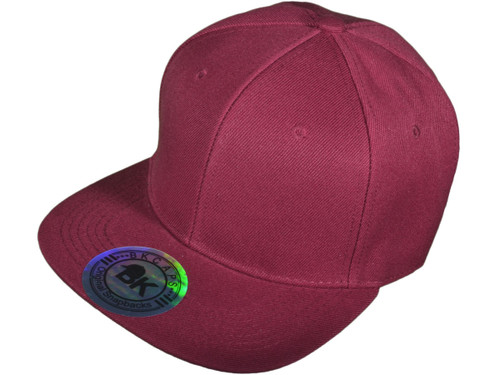 084f3eda2138d ... Blank Snapback Hats - BK Caps Flat Bill Plain Vintage Snapbacks with  Same Color Underbill ...