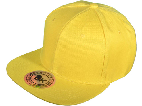 e8ac05adf Blank Snapback Hats - BK Caps Flat Bill Plain Vintage Snapbacks with Same  Color Underbill - 3003