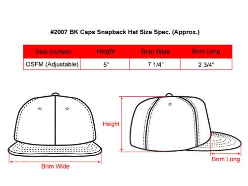 3d7daa76fc9 ... Blank Snapback Hats - BK Caps Flat Bill Plain Vintage Snapbacks with  Same Color Underbill ...