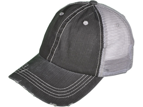 700f7a0b ... Vintage Trucker Hats - Low Profile Unstructured Washed Frayed Cotton  Blend Twill Mesh BK Caps ...