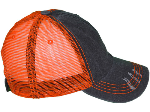 583a8f03156467 ... Vintage Trucker Hats - Low Profile Unstructured Washed Frayed Cotton  Blend Twill Mesh BK Caps ...