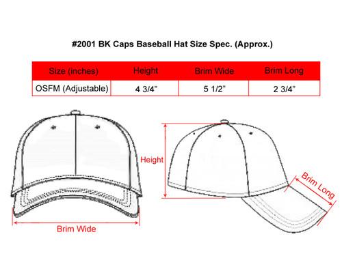 5bc170d34aa Blank Baseball Hats  Blank Baseball Hats - BK Caps 6 Panel Mid Profile -  22132 ...