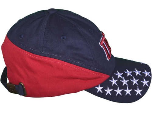 Patriotic Polo Dad Hats - BK Caps 6 Panel Unstructured Cotton Twill USA  Flag - 3878