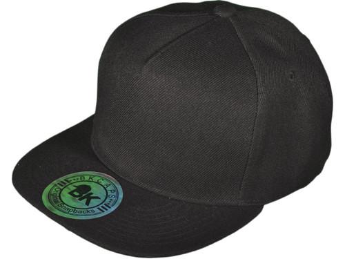20bb80f80e147 5 Panel Snapbacks Hats · 5 Panel Snapbacks - BK Caps Flat Bill Vintage  Snapback Hats with Same Color Underbill ...