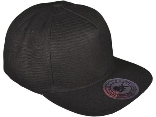 ... 5 Panel Snapbacks - BK Caps Flat Bill Vintage Snapback Hats with Same  Color Underbill ... 4536768a4cf4