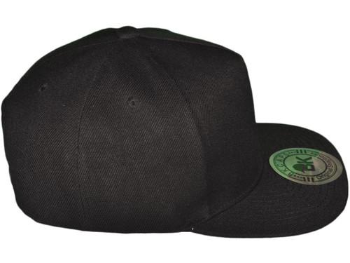 934fcb1b5f7b6 ... 5 Panel Snapbacks - BK Caps Flat Bill Vintage Snapback Hats with Same  Color Underbill ...