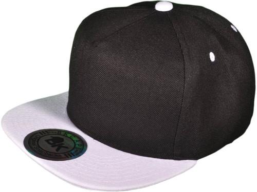 b5f2d456b24840 ... 5 Panel Snapbacks - BK Caps Flat Bill Vintage Snapback Hats with Same  Color Underbill ...