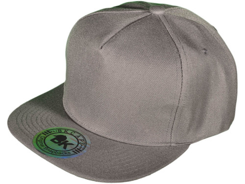 ... 5 Panel Snapbacks - BK Caps Flat Bill Vintage Snapback Hats with Same  Color Underbill ... 41084ef89e83