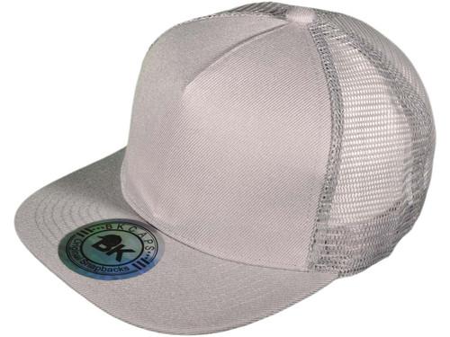 b01a8bfc80c ... Flat Bill Trucker Hats - 5 Panel SnapBack Mesh 2 Tone BK Caps (15  Colors ...